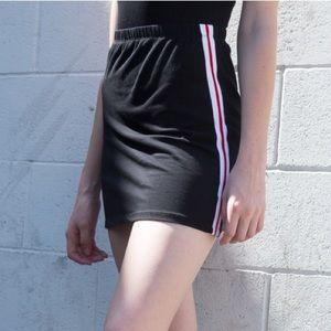 Brandy Melville Striped Mini Skirt